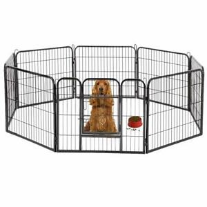 "BestPet 32""*32"" Heavy Duty 8 Panel Folding Metal Pet Playpen Dog Exercise Fence"