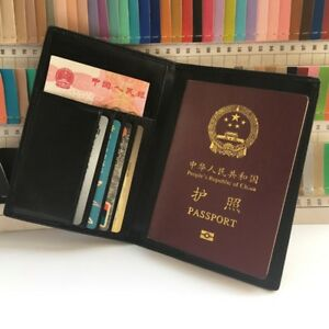 409d6d51178 Image is loading RFID-Blocking-Leather-Passport-Holder-Cover-amp-Travel-