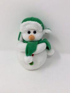 "Ty Beanie Babies Mr. Snow Winter Snowman 5"" Plush Toy"