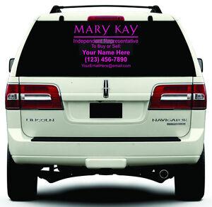Mary Kay Cosmetics Custom Decal Choose Size Color Car Van - Car window custom decals