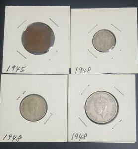 1948-1-5-10-20-cents-Malaya-king-George-KGVl-VF-4pcs-lot-5510