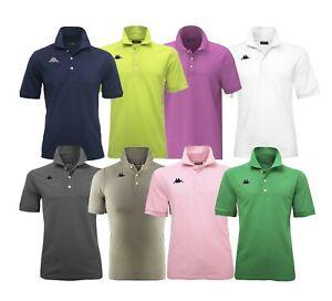Polo-Manica-Corta-Uomo-KAPPA-302FWP0-WOOP-Regular-Rosso-Blu-Arancio-Verde