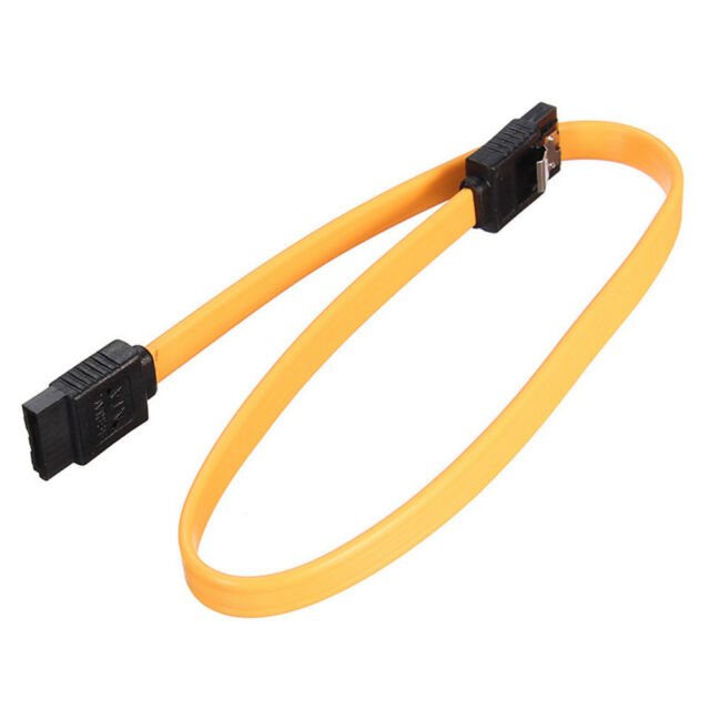 1Pc SATA Data Cable Hard Disk Cord line Support Double Port With Shrapnel 40cm R