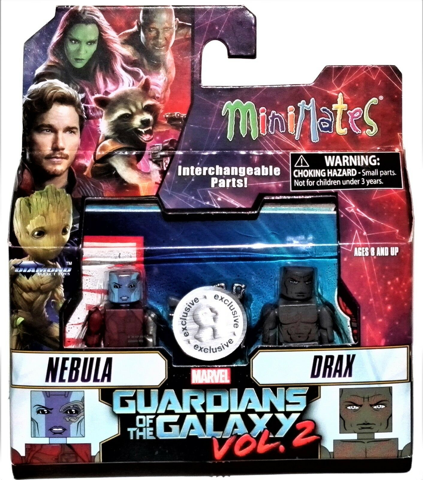 Marvel Minimates TRU Toys R Us Guardians of the Galaxy Vol 2 Movie Drax