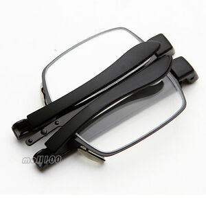 Lightweight Plastic Frame Glasses : Folding Plastic Frame Mini Portable Reading Glasses ...
