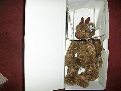 Annette Funicello Temperate Annette Funicello Rudy Bear Christmas Collection Limited Edition Packing Of Nominated Brand Bears
