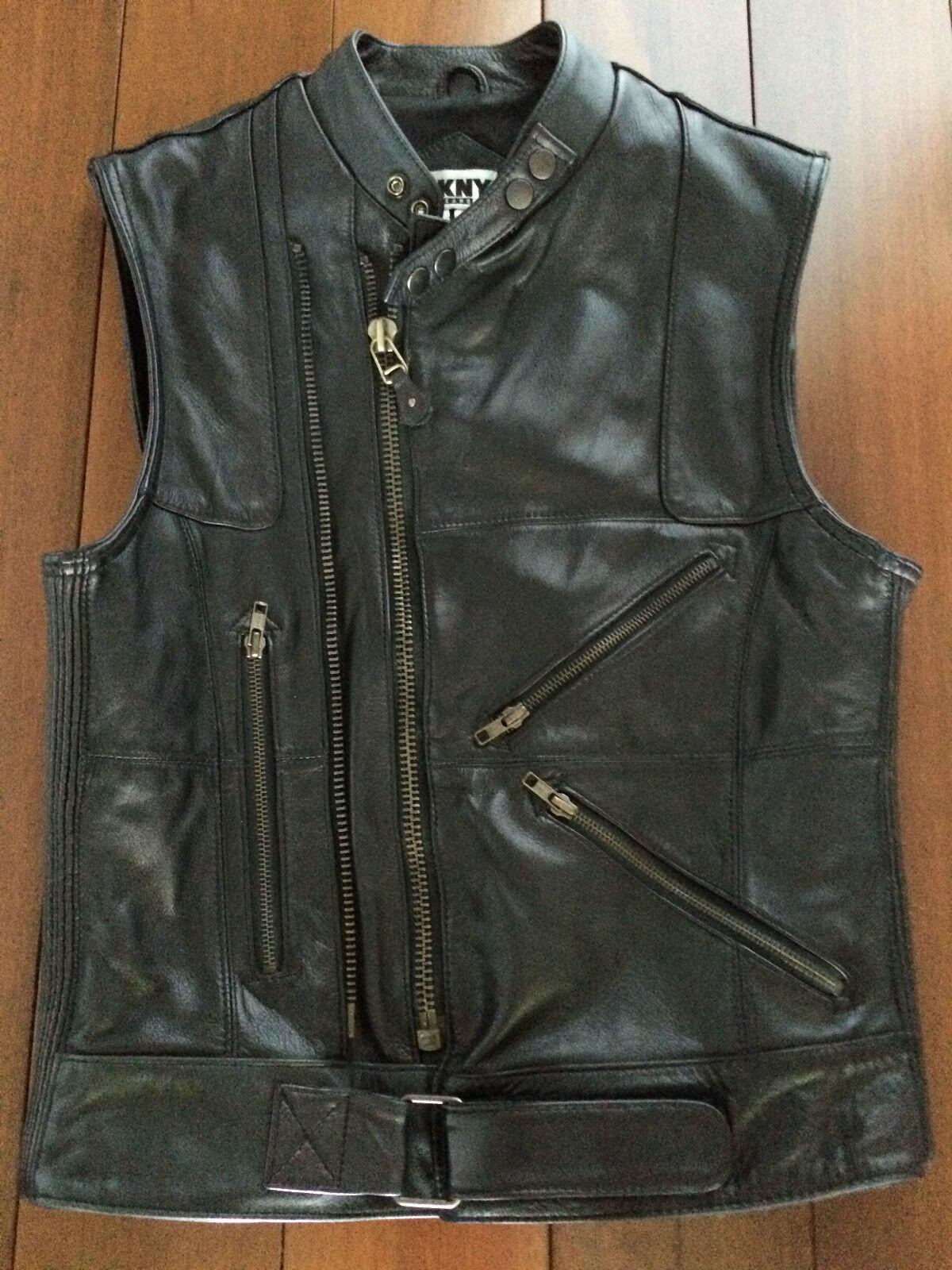 Ladies  Genuine Leather Motorcycle Vest