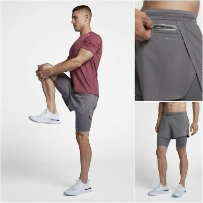 nike shorts 2 in 1 mens