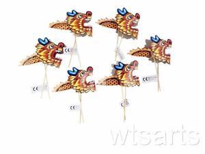 6 klein chinesisches papier drachen neujahrs dekoration for Drachen dekoration