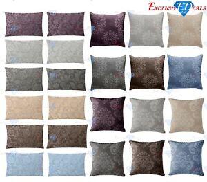 De-Lujo-Jacquard-Damasco-Tejido-Jacquard-Floral-Cushion-Covers-45x45cm-y-30x50cm