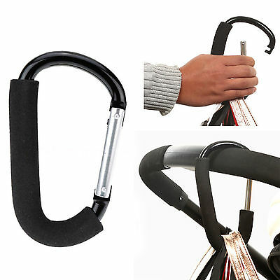 Pram Hooks Baby Stroller Hook Shopping Hand Bag Clip Carrier Pushchair Hanger