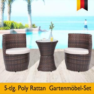 Balkonmöbel Tisch Stühle.Details Zu 5 Tlg Poly Rattan Gartenmöbel Set Sitzgruppe Balkonmöbel Tisch Stühle Braun