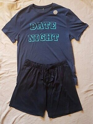 Flight Tracker Soft Man's Pyjama Set-date Night Large Gift Fast Color Short Sleeve Short Leg