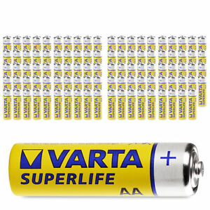 100x Varta AA SuperLife Mignon LR06 Batterie 1,5V Super Life 100 Stück