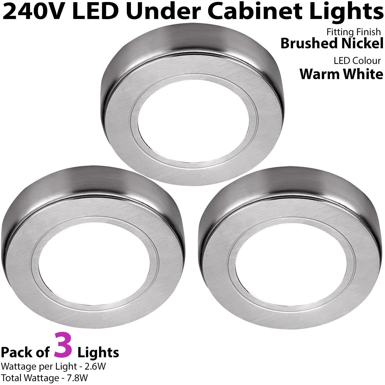 DEL Meuble Cuisine Spots 240 240 240 V-Blanc Chaud Surface/Flush Mount Light Kit | Réduction  216876