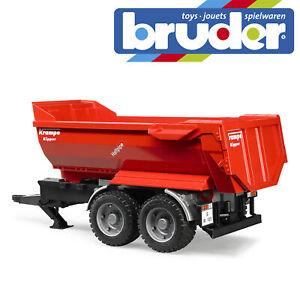 Bruder-Krampe-Tandem-Halfpipe-Tractor-Tipping-Trailer-Farm-Toy-Model-Scale-1-16