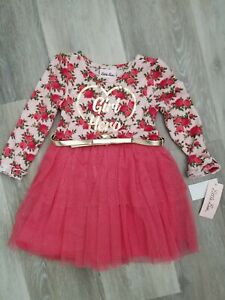 Little Lass Infant Toddler Girl/'s Sweater TopPant Size 18M 24M 2T NWT Red Heart