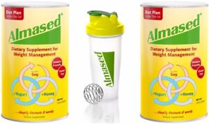 Details About Almased Dietary Supplement Weight Loss 17 6 Oz 2 Pack 1 Free Shaker Bottle