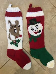 be5ee000167 Image is loading Personalized-Hand-Knit-Christmas-Stocking