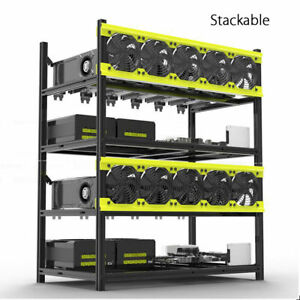 Veddha-8-6-GPU-Mining-Rig-Aluminum-Case-Stackable-Open-Air-Frame