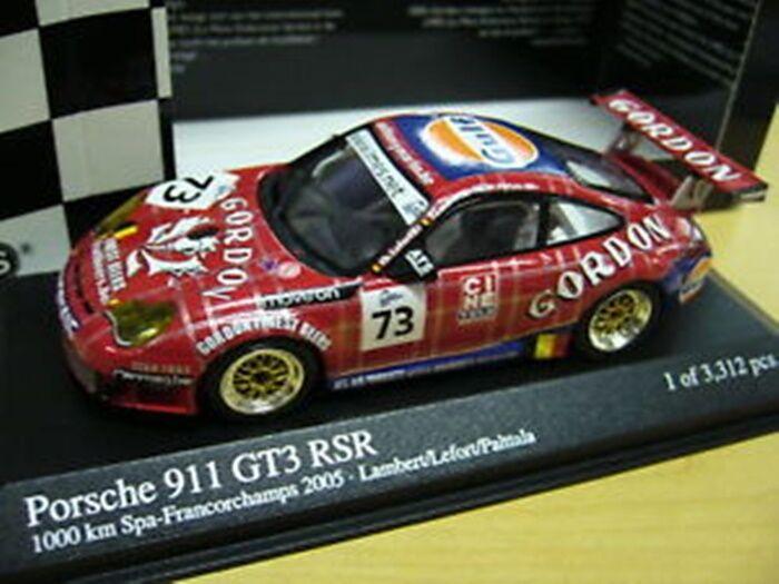 Porsche 911 996 gt3 rsr 24 H Spa 2005 GORDON Gulf  73 MINICHAMPS S-PRIX 1 43