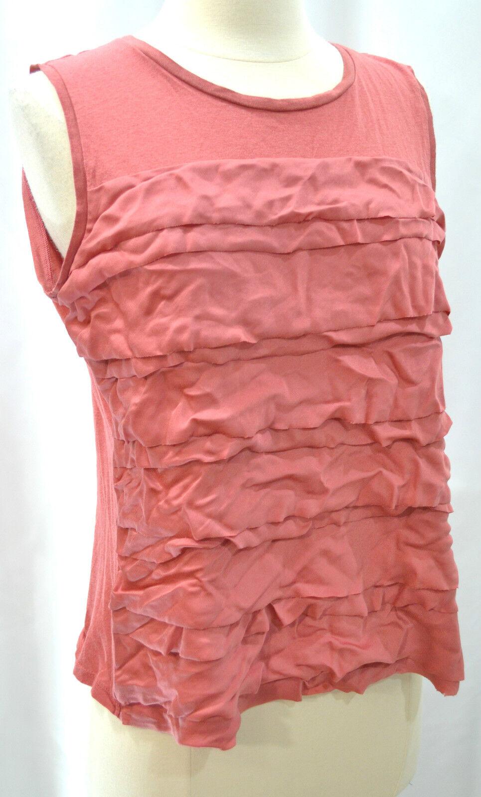 Ann Taylor blouse cotton modal ruffle tee feminine Cami knit Top shirt Size M