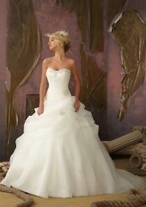 New-Stock-White-Ivory-Wedding-Dress-Bridal-Gown-Size-6-8-10-12-14-16-18
