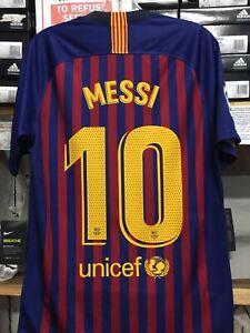 Nike Fc Barcelona Hogar Jersey 2019 10 Messi Tamano Grande Solamente Ebay