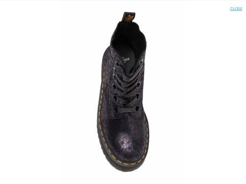 Dr Martens MOLLY Black Crackle Suede Platform Women 6-Eye Boots Great Reviews