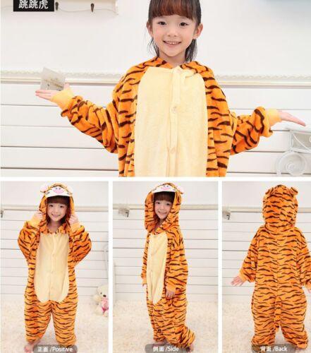 Boy Girl Kid Pajamas Kigurumi Unisex Halloween Cosplay Animal Costume Sleepwear
