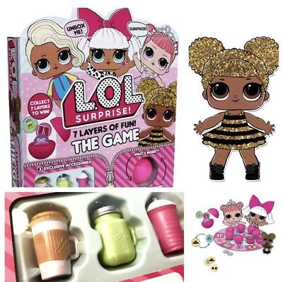 "Free Shipping! Lol Surprise doll Board Game 7 Layers Of Fun! ""US SELLER"""
