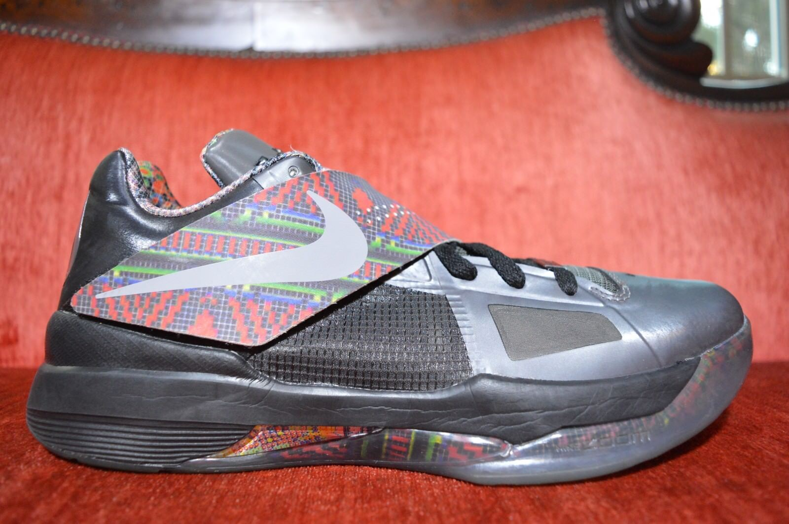 56d48064e37c Clean 2011 Nike Zoom KD IV 4 BHM Size 10 Kevin Durant Black History ...