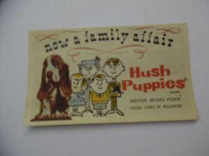 c 1960 hush puppies shoe brochure shoebox advertising insert vintage