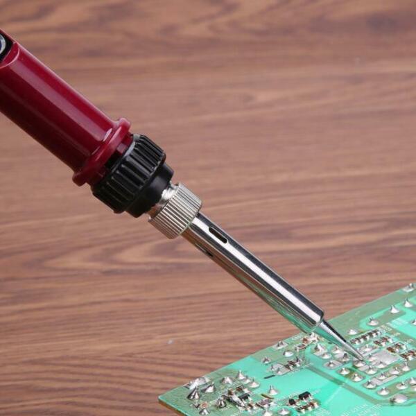 80W Professional LCD Digital Temperature Adjustable Electric Soldering Iron G2U4