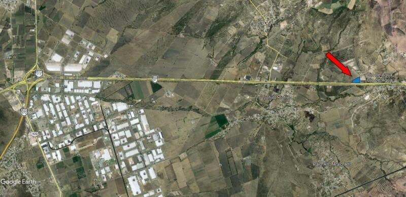 Macrolote Plano, sobre Carretera A San Luis Postosí, Ojo de Agua, Queretaro.