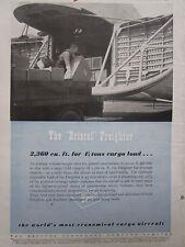 9/1946 PUB BRISTOL AEROPLANE FREIGHTER FRET AIRCRAFT AVION FLUGZEUG ORIGINAL AD
