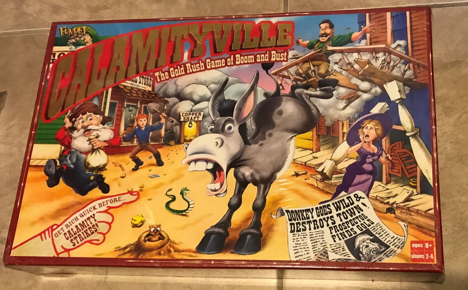 Calamityville Board Game Fundex NEW factory sealed