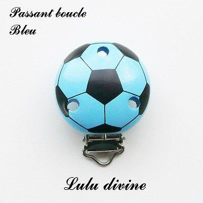 passant boucle Pince // Clip en bois Ballon de foot : Jaune attache tétine