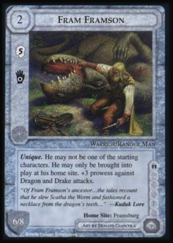 MECCG CCG Middle-earth Fram Framson The Dragons TD MINT