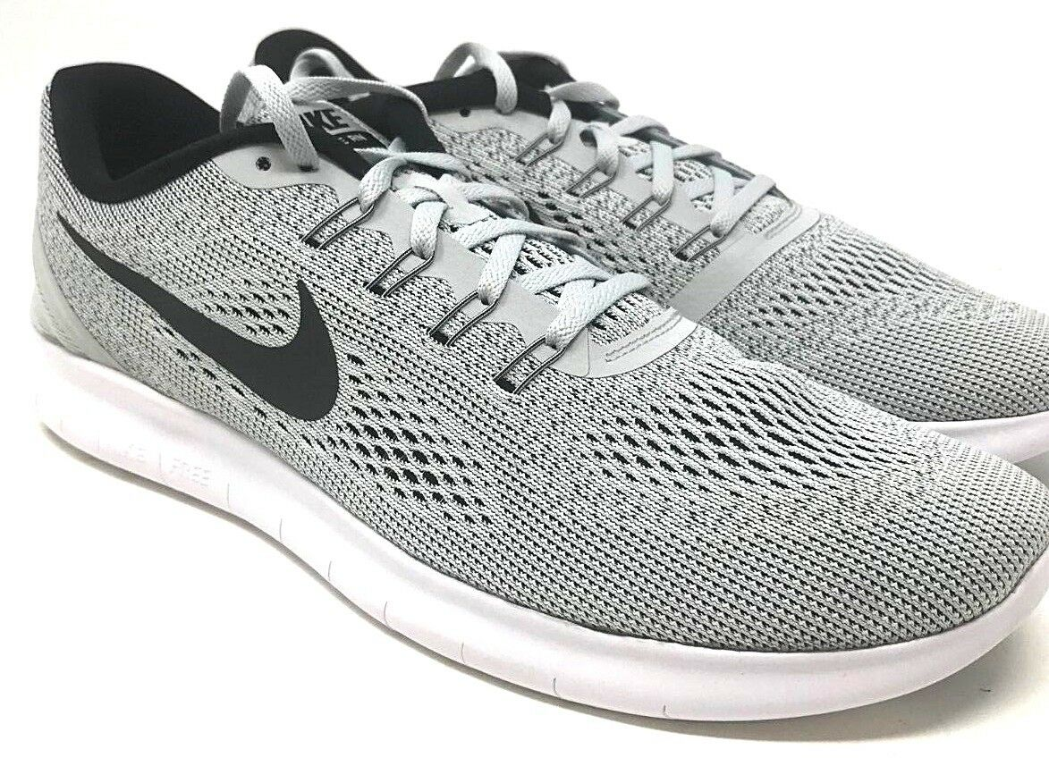 Wild casual shoes Nike Free Run SIZE 13 White/Black-Pure Platinum