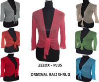 NEW LADIES WOMEN Bali Shrug Bolero Cardigan Wrap up Tie Top Mesh UK size 8-18