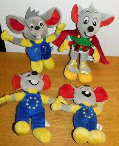 éNergique Lot 4 La Souris Europa Park Rust Mascotte Peluche Plush Doll Mack Germany Mouse