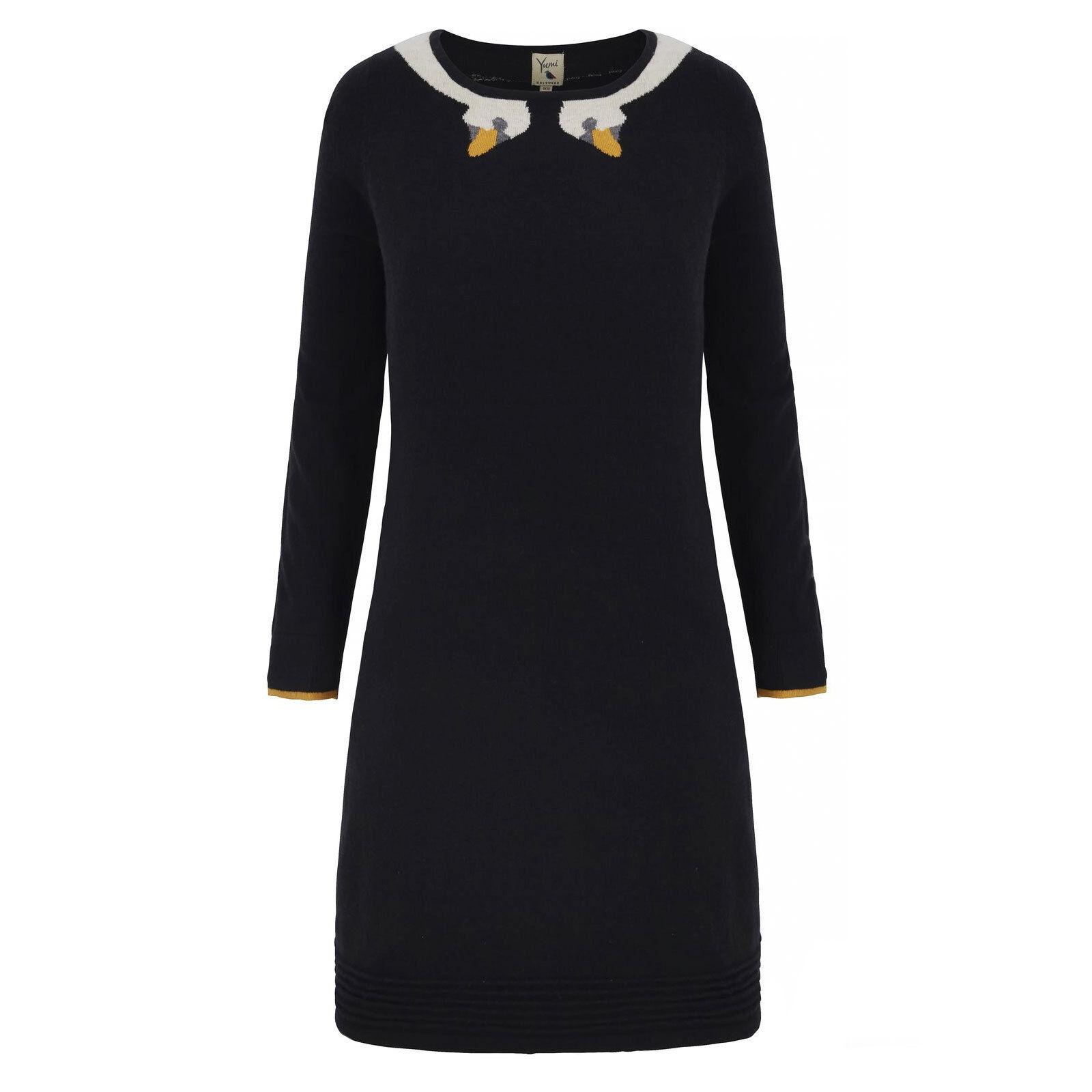 %Yumi Swan Print Print Print Kleid schwarz S-M (Uk10-12) | Schönes Aussehen  | Feinen Qualität  | Up-to-date-styling  c4792f