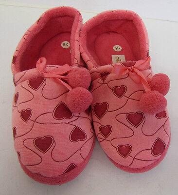 Cuatro Estaciones nd-29-1 señoras Corazón Estampado Rosa Zapatillas Uk Tallas 3/4, 5/6 Y 7/8 5a