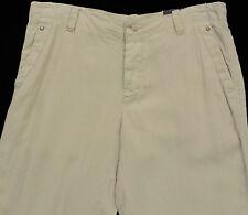 Men's PERRY ELLIS Khaki / Sand Linen Pants 36x32 36 NEW NWT Awesome!