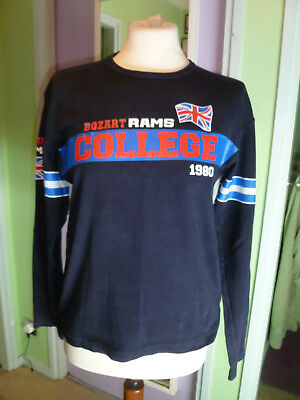 "'bozart Rams College 1980' Long Sleeved Top (c36"") Very Good Condition"