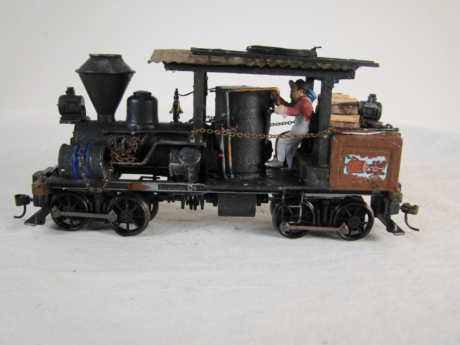 On30 Heisler Logging Steam Locomotive - custom weatherosso - DCC / Sound - lot 28