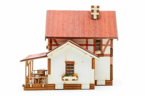 YoungModeler A Cafe at a Whistle Stop Desktop Wooden Model Kit