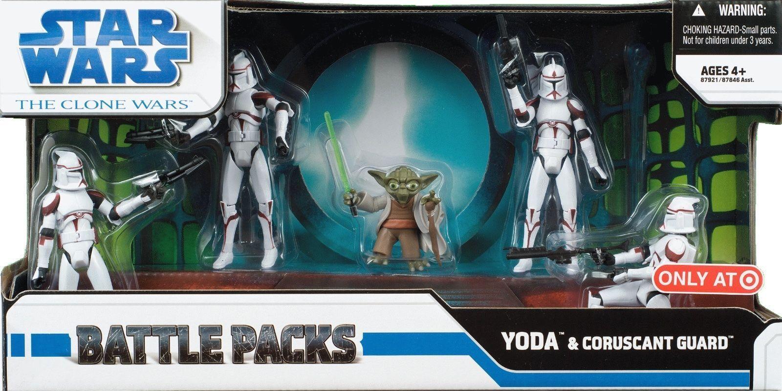 envío gratis Estrella Wars Clone War War War Battle Pack-Yoda & Coruscant Guardia Nuevo  tienda de venta
