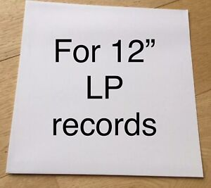 20-x-LP-RECORD-SLEEVES-NO-HOLE-White-Card-Album-12-034-Cover-Test-Press-Vinyl-Outer